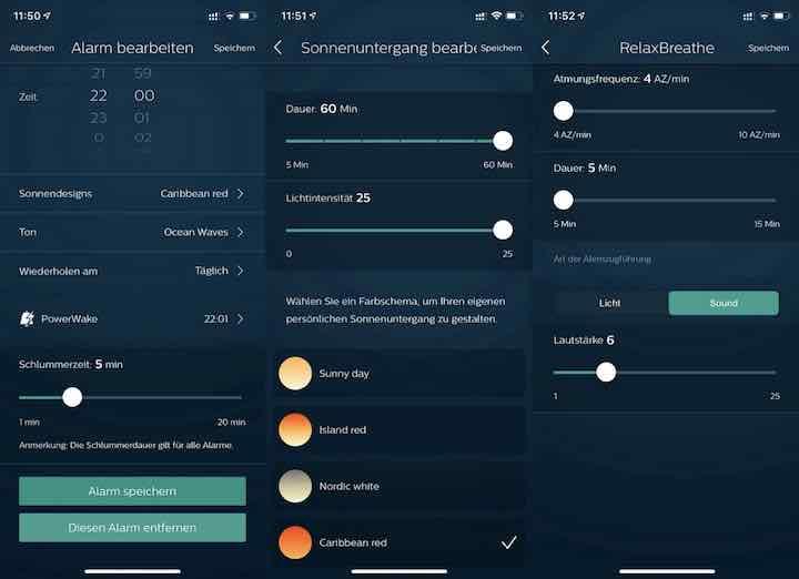 Smartphone App zur Steuerung von Licht und Radio