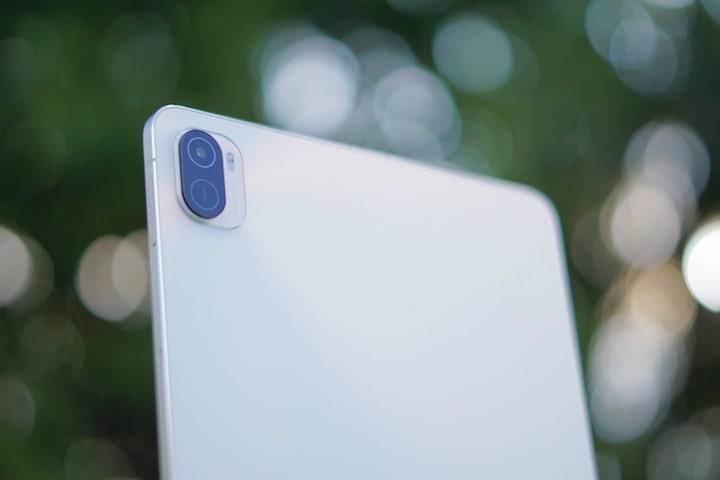 Tablet Kamera mit Bokeh im Hintergrund