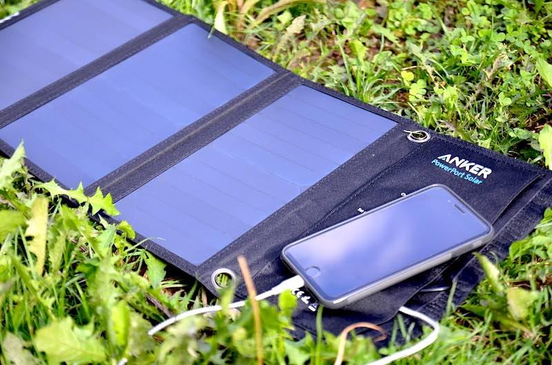 anker powerport solar smartphone laden