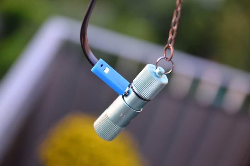 aufladen mit micro usb kabel led