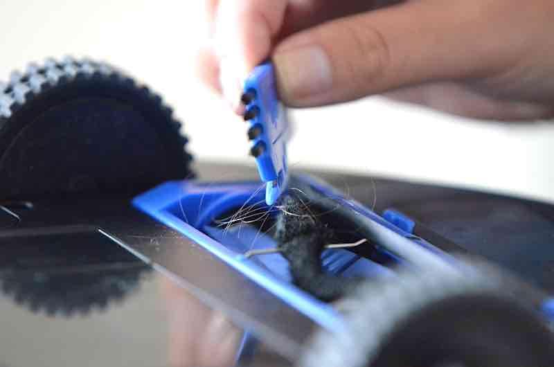 rolle entfernen von haaren