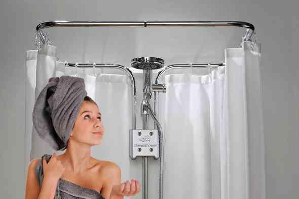 clevershower das dusch tuning kit gegen spritzwasser. Black Bedroom Furniture Sets. Home Design Ideas