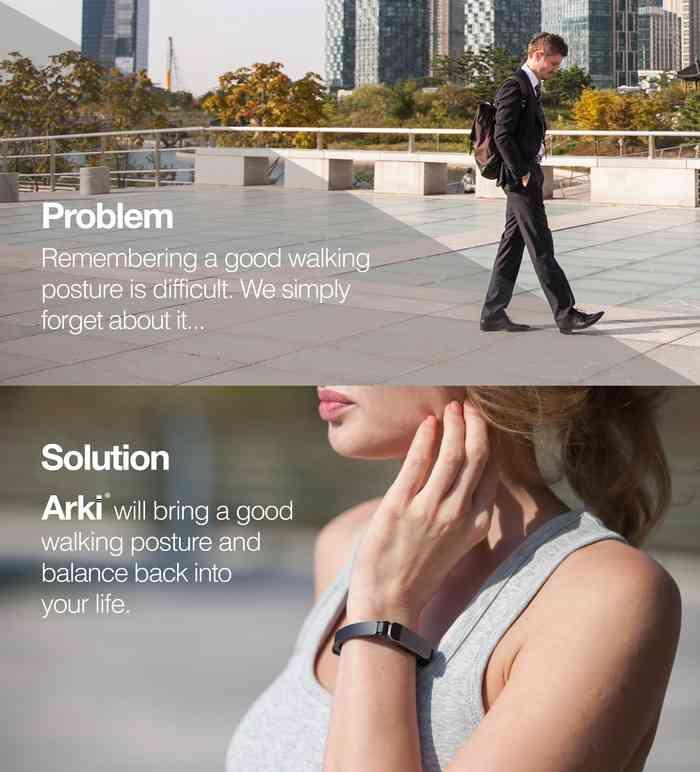 arki armband körperhaltung fitness