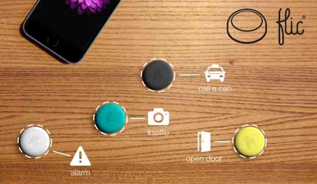 flic button smartphone wireless control knopf