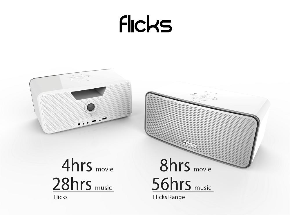 flicks mobiler party lautsprecher mit integriertem beamer. Black Bedroom Furniture Sets. Home Design Ideas