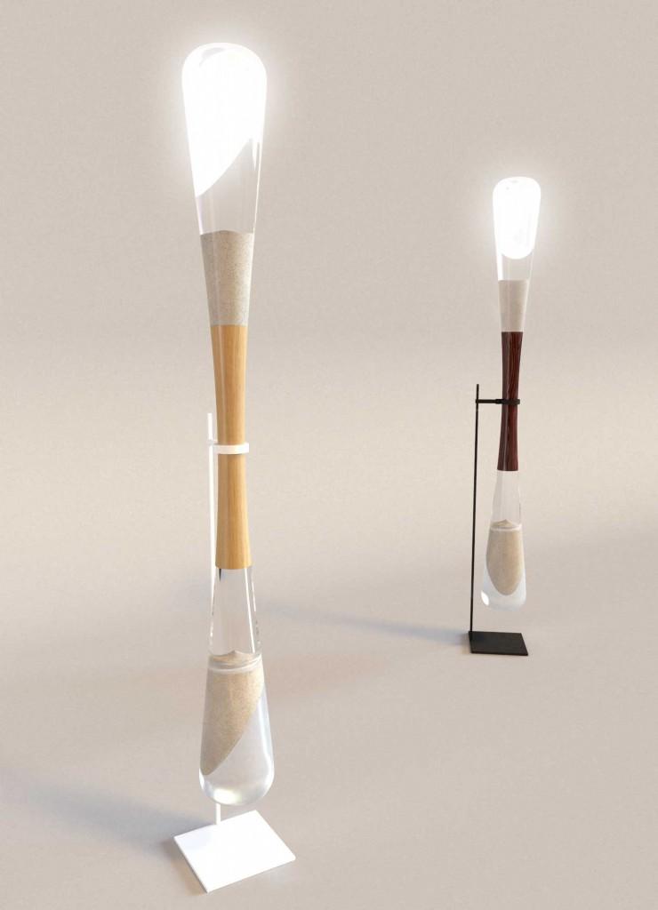 sanduhr lampe fallender sand bringt led zum leuchten. Black Bedroom Furniture Sets. Home Design Ideas