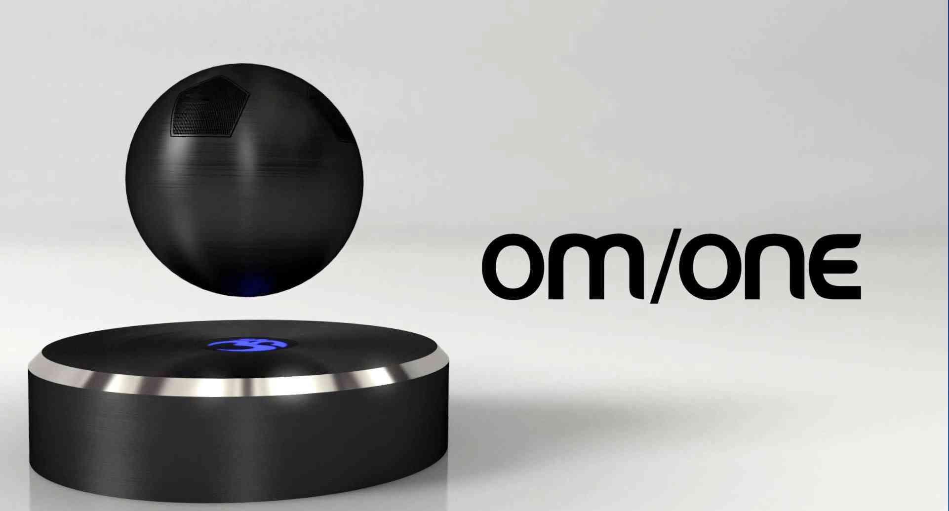 om/one - diese schwebende kugel bringt bluetooth-sound