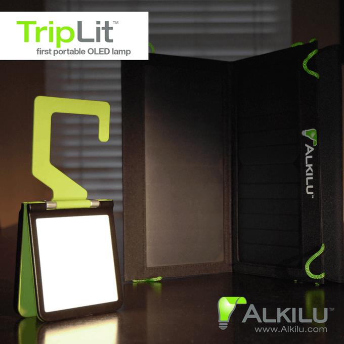 triplit mobile oled lampe bringt licht ins dunkel. Black Bedroom Furniture Sets. Home Design Ideas