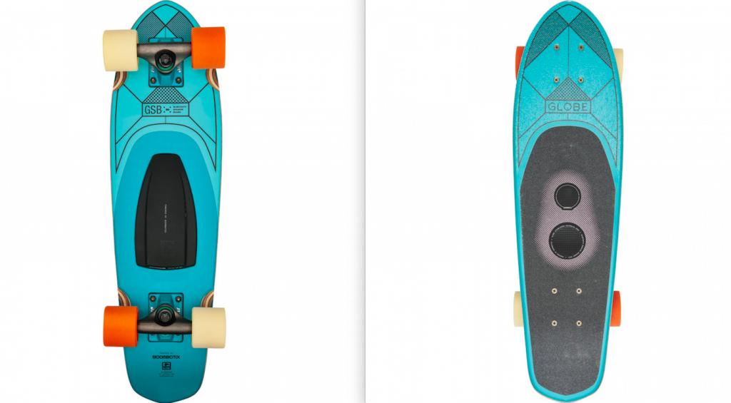 lautspecher im skateboard integriert