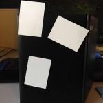 Magnetic Notes auf Leder