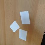 Magnetic Notes auf Möbel