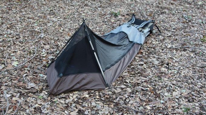 Rucksack wird zum Zelt Bivypack2