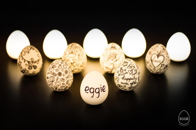 Eggie bemalt und gestaltet