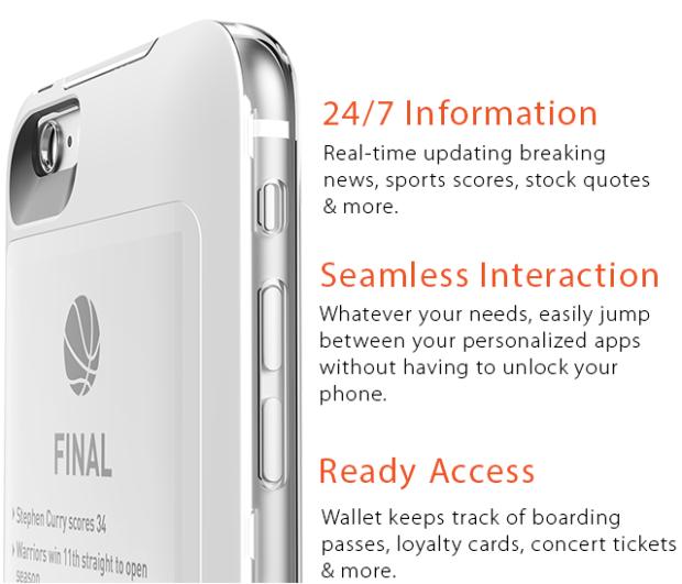 iphone case mit zweitem bildschirm
