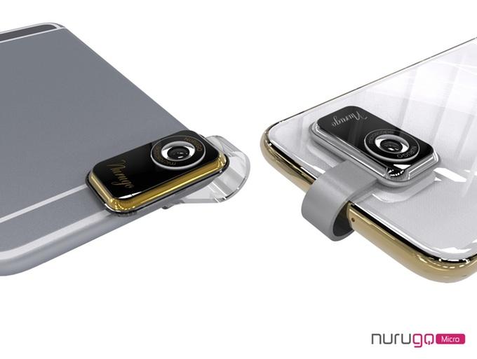 Nurugo micro mini mikroskop aufsatz für dein smartphone