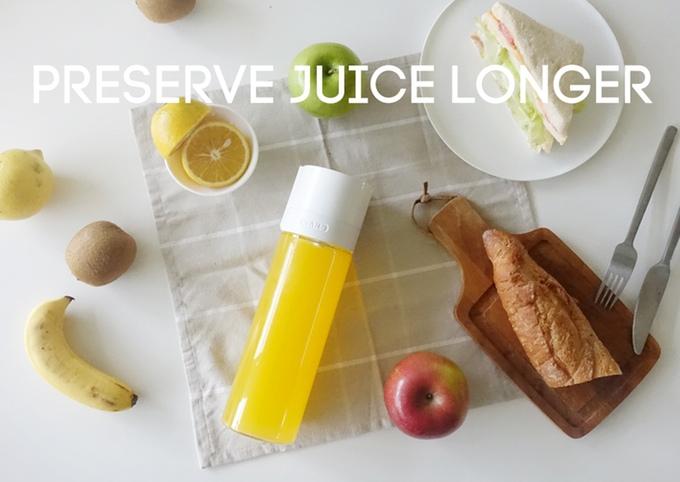 sans frischhalteflasche für smoothies und säfte