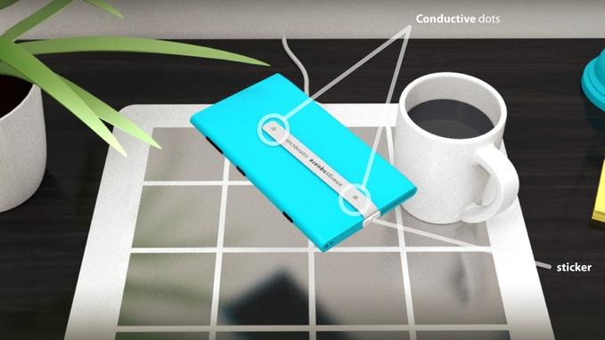 energysquare kabelloses laden des handys mit ladematte. Black Bedroom Furniture Sets. Home Design Ideas