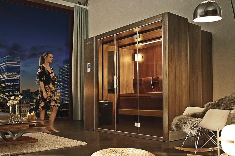 klafs s1 ausfahrbare sauna passt in jedes zimmer. Black Bedroom Furniture Sets. Home Design Ideas