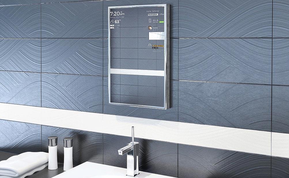 perseus smarter spiegel zeigt nachrichten und infos an. Black Bedroom Furniture Sets. Home Design Ideas
