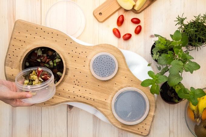 biovessel urbaner komposthaufen f r die eigenen vier w nde. Black Bedroom Furniture Sets. Home Design Ideas