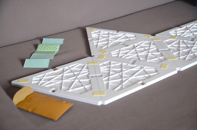 nanoleaf aurora installation montage