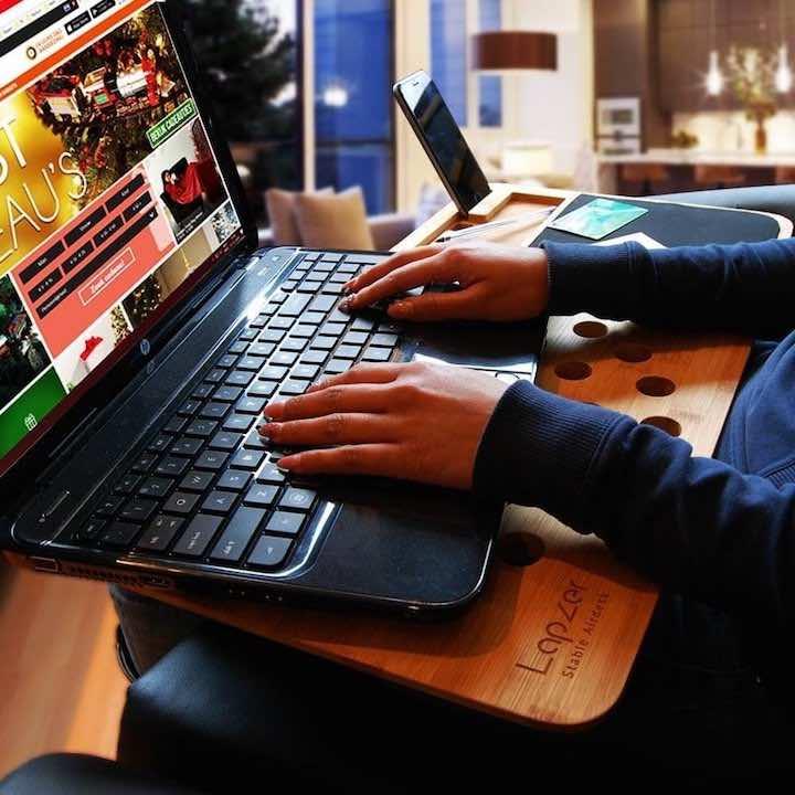 laptopunterlage aus bambus