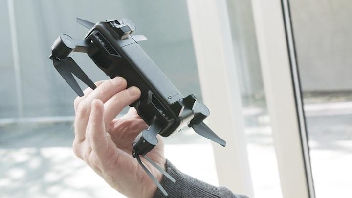 Ansicht der Unterseite der Mark Drone