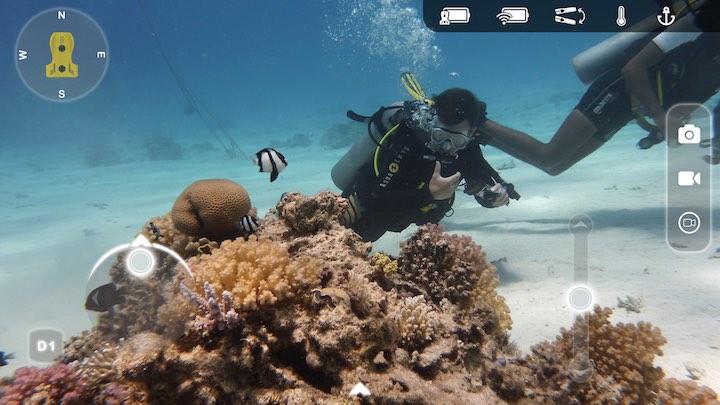 App Nemo Drohne und Taucher