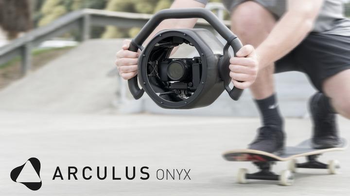 Onyx Gimbal im Gebrauch auf Skateboard