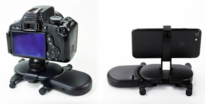 Muwi mit Kamera und iPhone