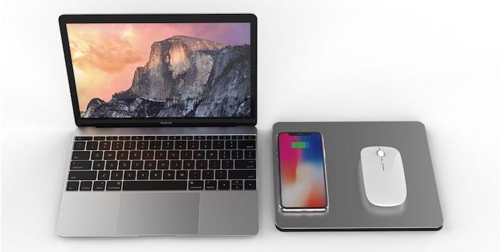 PowerDock mit iPhone X und Mau neben MacBook 1 e1528127021356