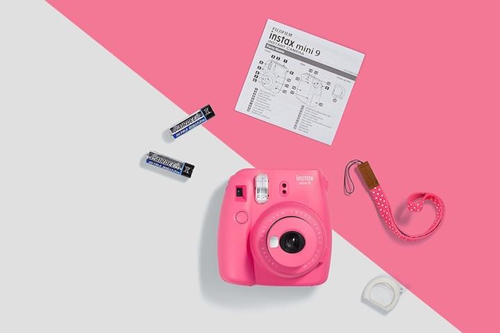 Fujifilm Instax Mini pink mit Zettel