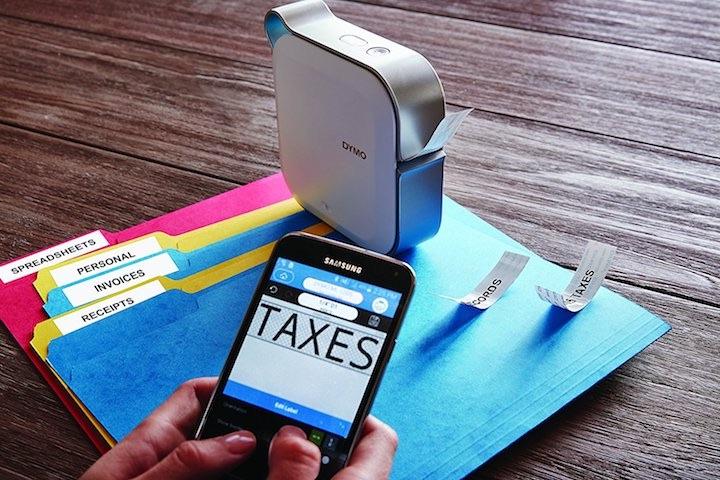 mobiler etikettendrucker mit smartphone