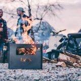 Beer Box mit Feuer Männern und Motorrad 160x160