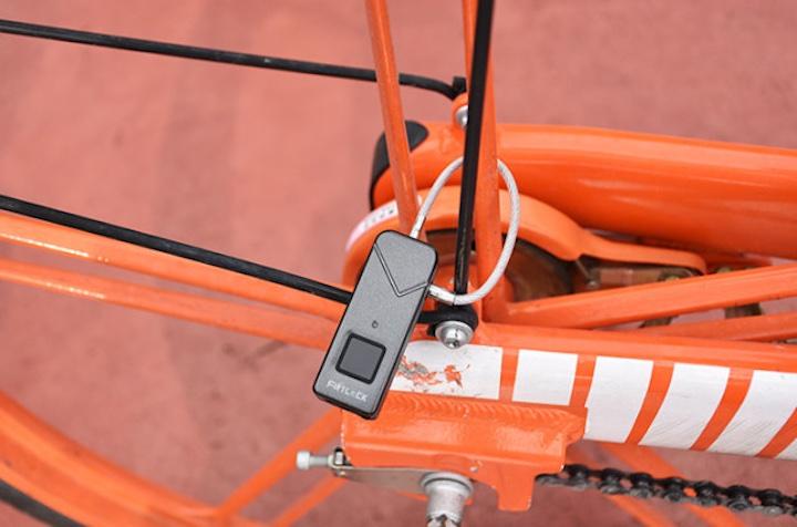 Fipilock an orangem Fahrrad