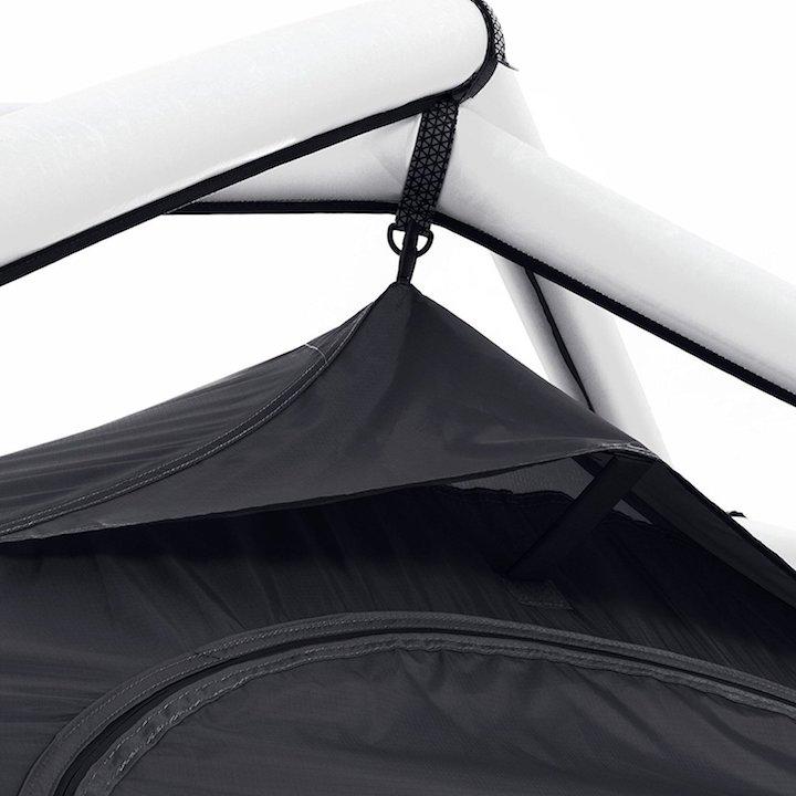 Obere Aufhängung des Zelts
