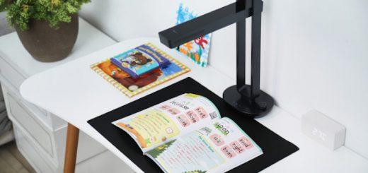 CZUR Aura scannt ein Kinderbuch 520x245