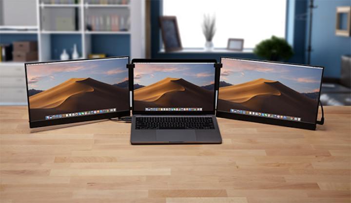 MacBook mit zwei Vinpok Split