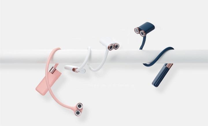 OPPY in blau weiß pink an Stange