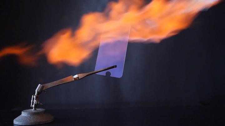 PURP in einer Flamme