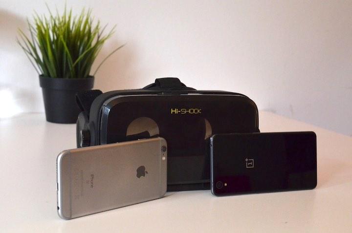 VR Shark X4 mit iPhone 6s und OnePlus X