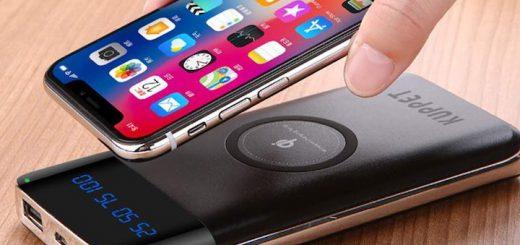 iPhone X und KUPPET Powerbank 520x245