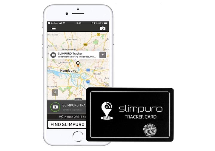 iPhone und Slimpuro Tracker Karte