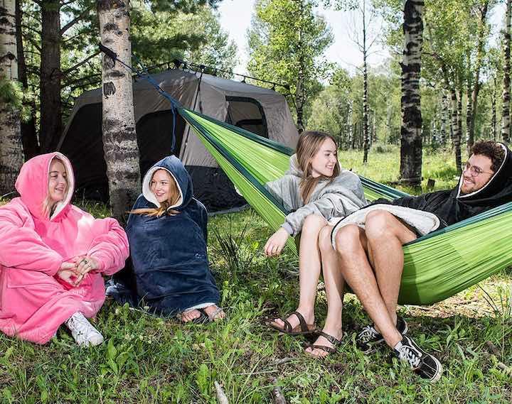 Baum Zelt Hängematte Menschen Comfy Decke