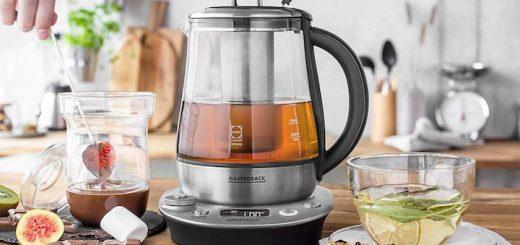 Gastroback Wasserkocher mit Tee und Schokofondue 520x245