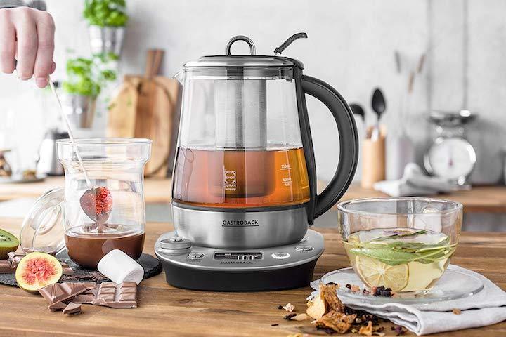 Gastroback Wasserkocher mit Tee und Schokofondue