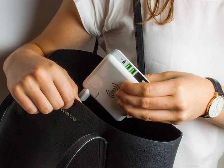 Handtasche Armbanduhr Hände Smrter Netzteil