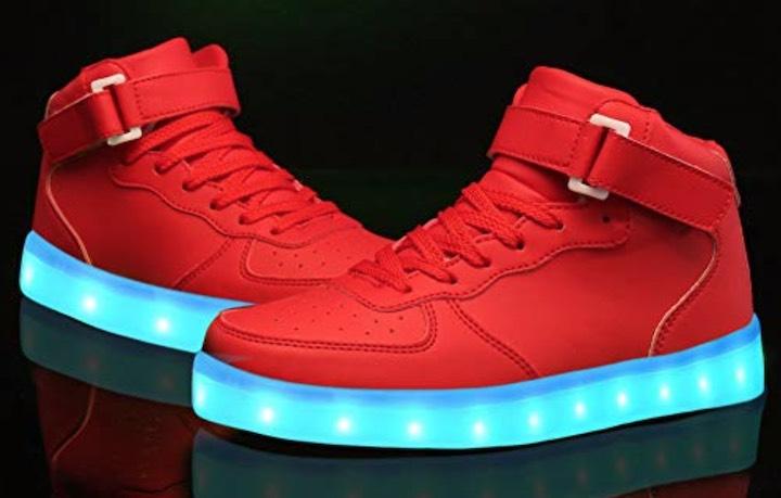 LeKuni LED Sneaker in Rot