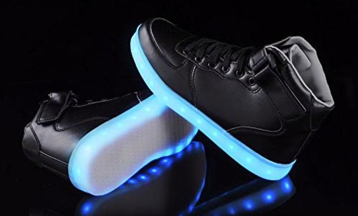 LeKuni LED Sneaker in Schwarz