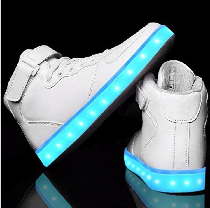 LeKuni LED Sneaker in Wei%C3%9F